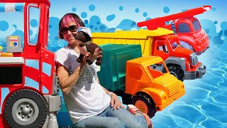 Машинки едут в аквапарк! Про машинки новые серии - Видео для детей и Маша Капуки Кануки