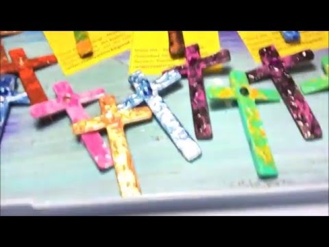 Creating  Decorative  Wood Cross Pins