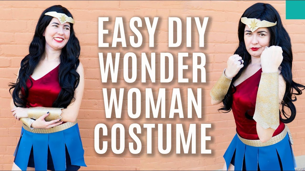 How to no sew wonder woman costume diy youtube how to no sew wonder woman costume diy solutioingenieria Image collections