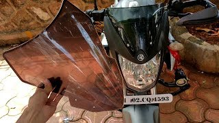 How To Install Aftermarket Windshield On Any Motorcycle & Scooter? (Hindi) Affordable Windshield