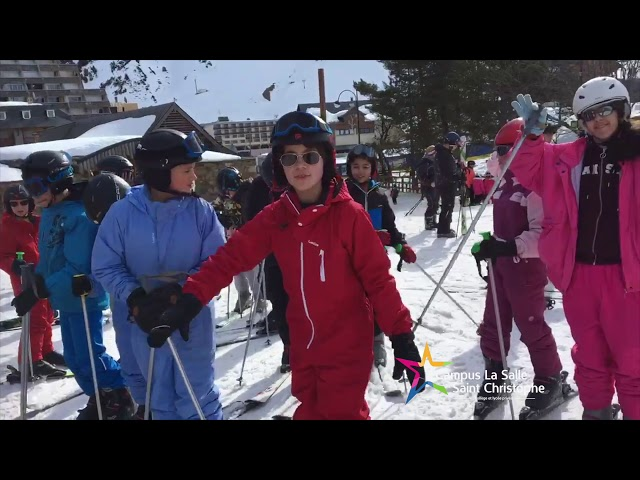 Voyage scolaire au ski avec les élèves de 6ème et 5ème