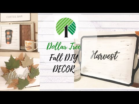 DOLLAR TREE FALL DIY DECOR | FALL FARMHOUSE DIYS | DOLLAR TREE FALL 2019