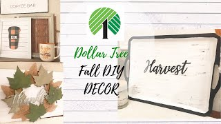 DOLLAR TREE FALL DIY DECOR | FALL FARMHOUSE DIYS | DOLLAR TREE FALL 2019