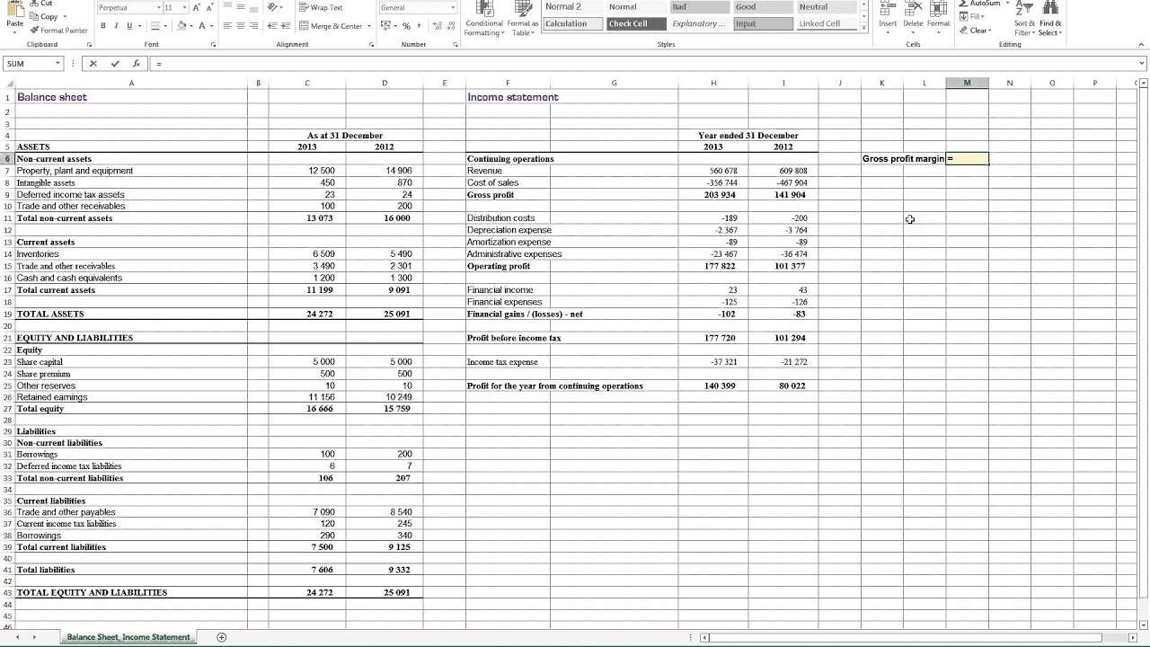 calculating gross profit margin in excel youtube. Black Bedroom Furniture Sets. Home Design Ideas