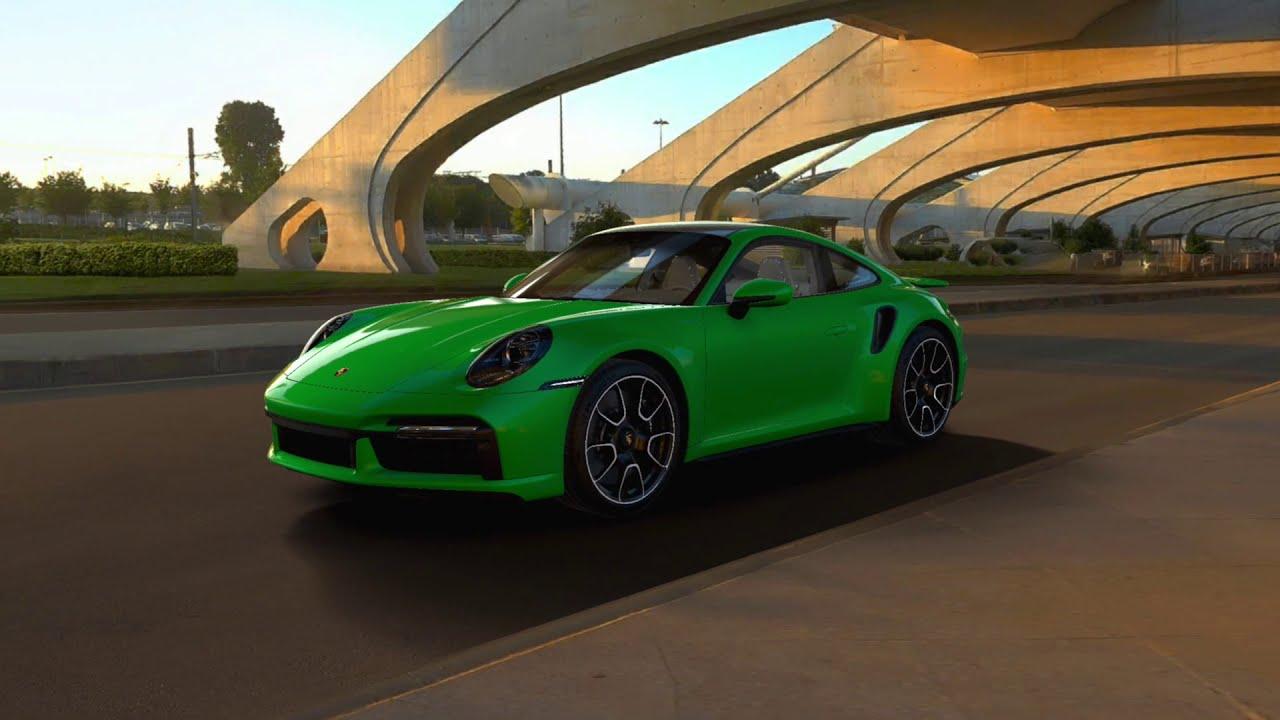 The 2021 Porsche 911 Turbo S In Python Green Youtube