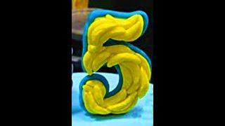 Как сделать цифру из мастики . Банановая цифра для торта из мастики!
