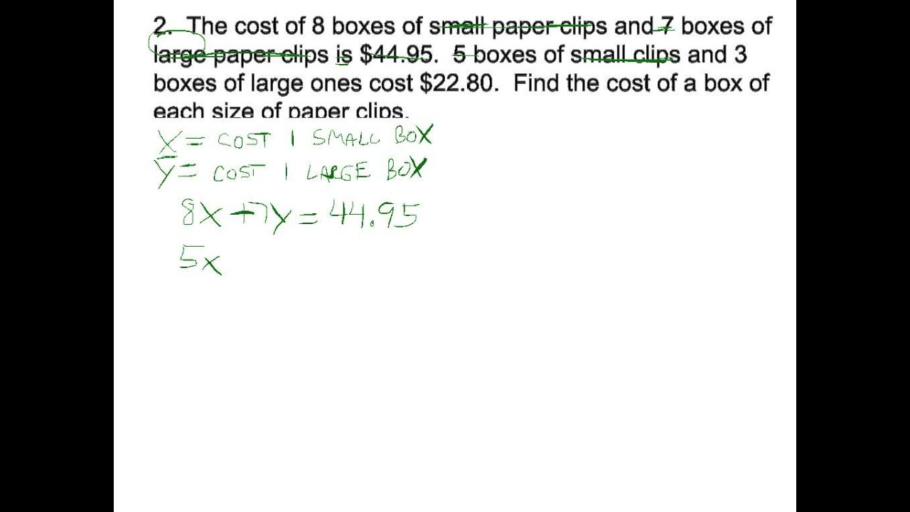 Money word problems systems of equations youtube money word problems systems of equations ibookread Read Online