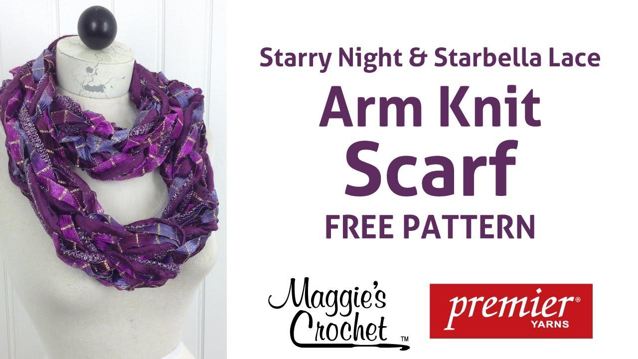 Arm knit starbella lace starry night ribbon yarn scarf right arm knit starbella lace starry night ribbon yarn scarf right handed dt1010fo
