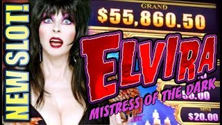 ★NEW SLOT! ELVIRA MIGHTY CASH★ MISTRESS OF THE DARK Slot Machine Bonus (Aristocrat | Gimmie Games)