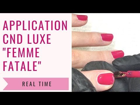 """Application of CND LUXE """"FEMME FATALE"""" with """"BEAU"""" as base"""