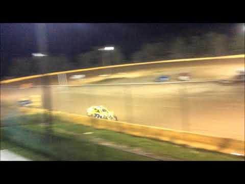 "ANTHONY ""CHOPS"" CHROBAK STAGE 1 MODIFIED FEATURE WIN AT HAMLIN SPEEDWAY 9-23-18"