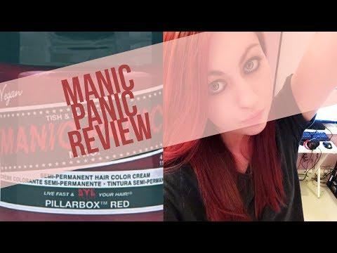 Manic Panic Hair Dye Review in Shade Pillarbox Red