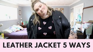 How To Style A Plus Size Leather Jacket  | The Style Series Featuring Happiness Boutique