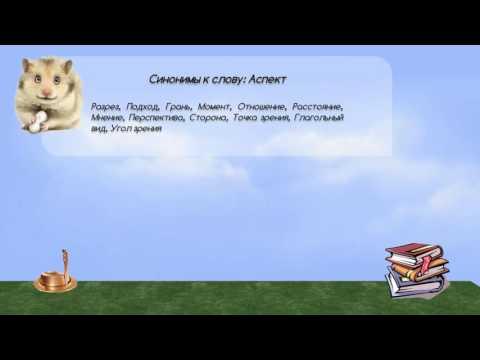 Синонимы к слову аспект в видеословаре синонимов онлайн