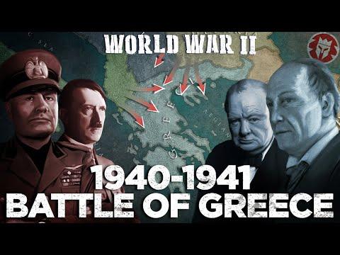 Battle of Greece and Battle of Crete - World War II DOCUMENTARY