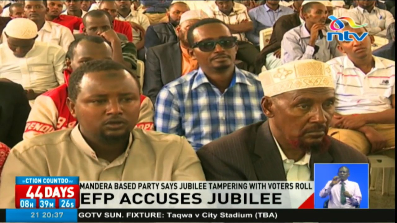 EFP accuses Jubilee of tampering with voters roll
