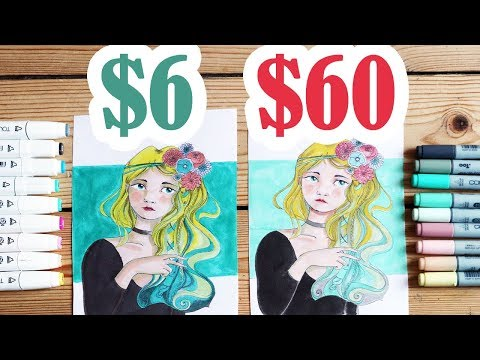 $60 COPIC MARKERS VS $6 TOUCH FIVE MARKERS - Comparing Copic Markers and a cheap alternative+LINEART