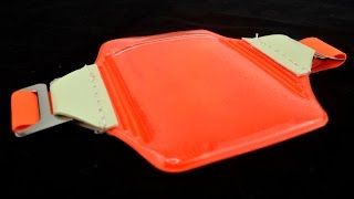 1840-7321 Armband ID Badge Holder, Reflective Orange w/ Glow-in-the-Dark Tabs by Specialist ID