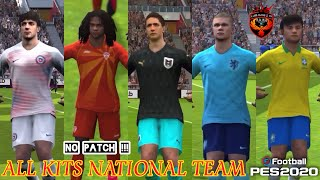 Review ALL kits NATIONAL team in eFootball PES 2020 Mobile