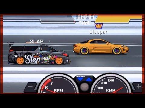 Pixel Car Racer UPDATE!! Opening 180 Crates - 2800hp VAN Build! | SLAPTrain