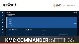 KMC Commander: Settings (Part 2)