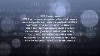 How to fix a corrupt Xbox 360 profile quick and simple