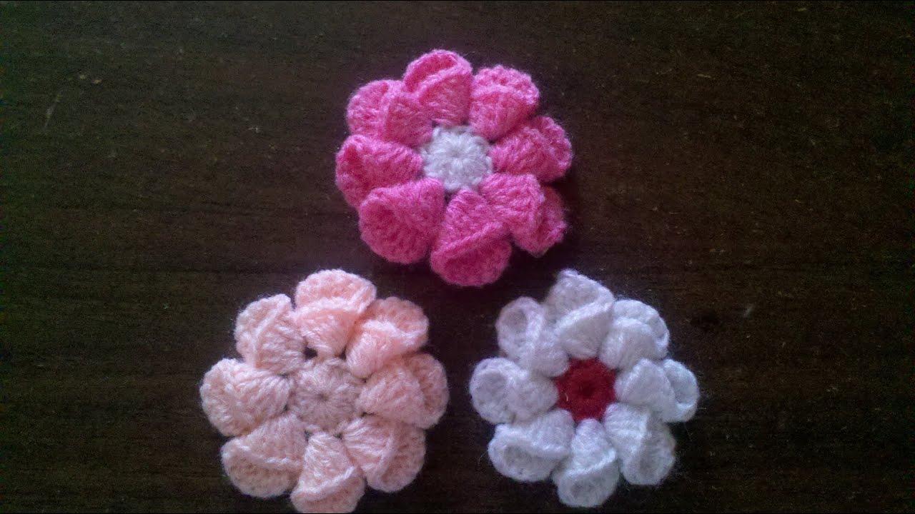 Como hacer una flor facil y rapido en espa ol youtube - Como hacer flores de ganchillo ...