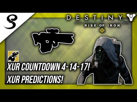 XUR COUNTDOWN 4-14-17! XUR PREDICTIONS! w/ CheddarSombrero! Destiny (Age of Triumph)