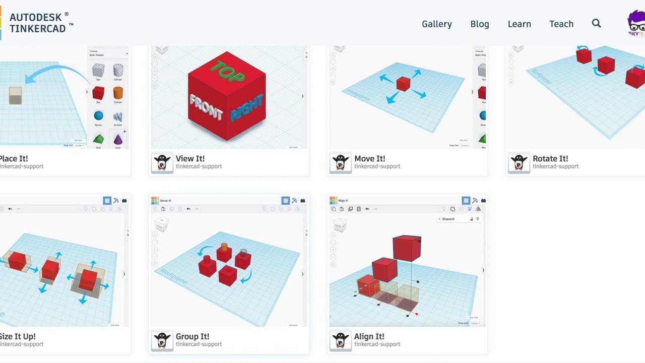 Tutorials Tinkercad: Primeres passes en disseny 3D