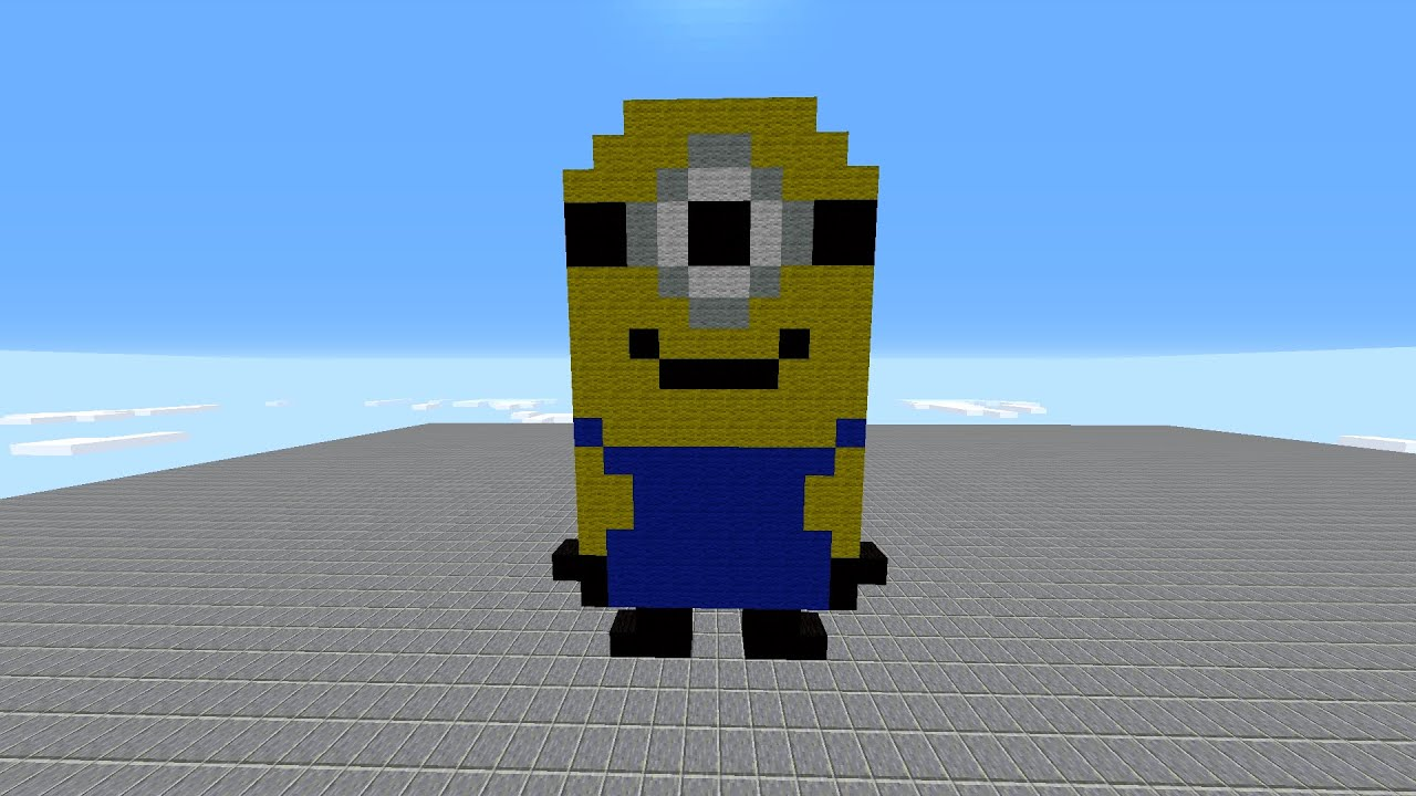 Easy Minecraft Pixel Art Tutorial Minion Youtube