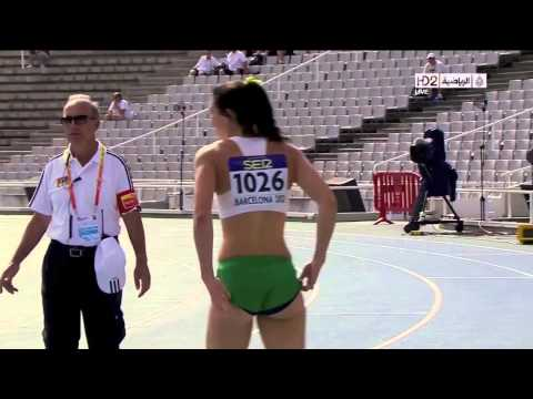 Michelle Jenneke's Sexy Warm Up Dance, Barcelona Olympics 2012