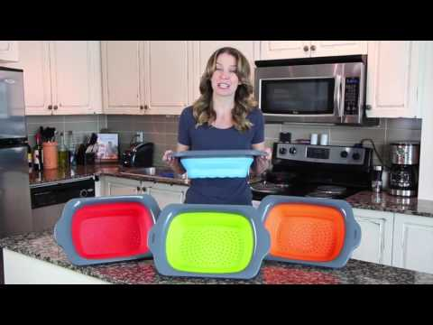 Over the Sink Collapsible Colanders