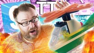 LEGO CHOPPER CRASH - Gmod TTT (Garry's Mod Funny Moments)