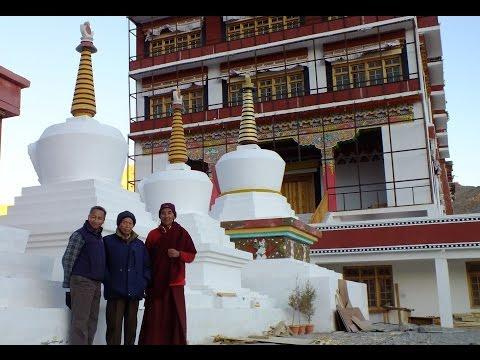 Ice Man visits Ice Stupa site