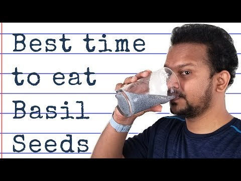⭐ Basil Seeds Expanding In Time Lapse | Best Time To Drink Basil Seeds, Benefits And Side Effects
