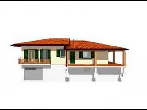 Casa prefabbricata in cemento armato 210 mq con veranda for Moderni piani casa icf