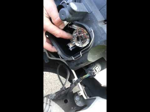 Changing head light on Ford Transit