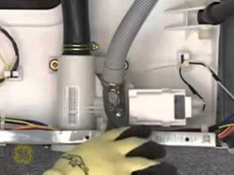 ge front load washer drain pump servicing