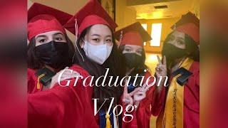 [Vlog#5] 미국 고등학교 졸업식, 셀프 네일 연장…