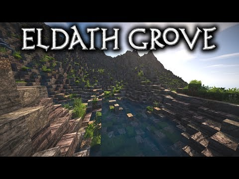 Minecraft: Eldath Grove - Ep1 Waterfalls, Ponds & Streams (Let's Build)