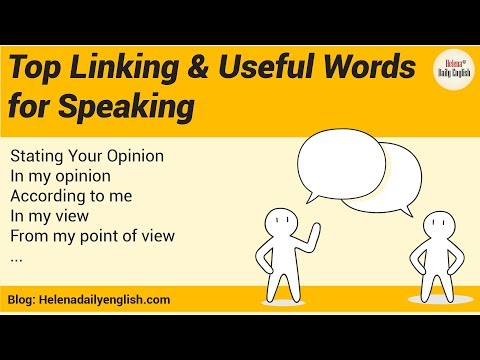 Top Linking Words for Speaking and Useful Words, Phrases to Write a