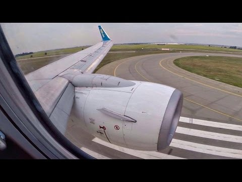 UIA Boeing 737-800 Landing at Kiev with Condensation - GoPro Wing View