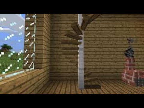 tuto minecraft escalier en spirale youtube. Black Bedroom Furniture Sets. Home Design Ideas
