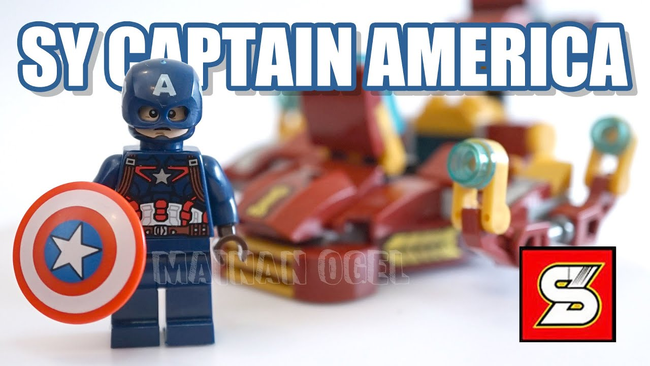 Brick Set Captain America & Ship by SY - Avengers Unofficial Lego [REVIEW]