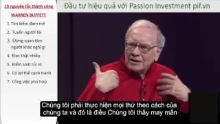 Đầu tư hiệu quả - 10 nguyên tắc để thành công của Warren Buffett