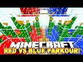 Minecraft - RED vs BLUE PARKOUR! (Preston VS Kenny Rage!) 1/2