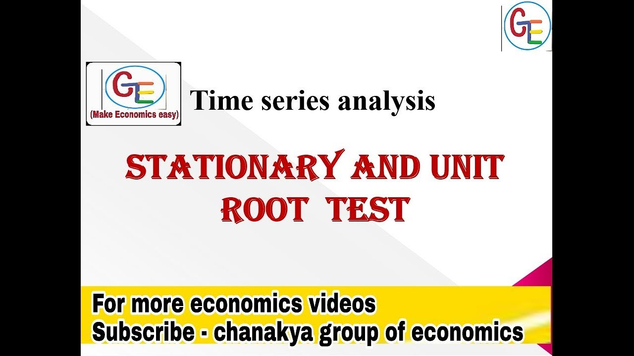 stationary and unit root test, & other tests - econometrics
