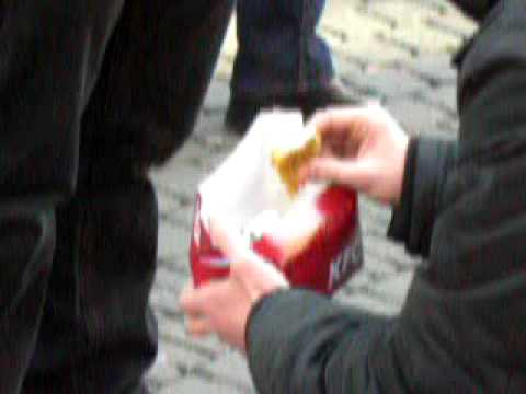 MeatOut Performance in the city of Cologne on March 21st, 2009. GO VEGAN !!!