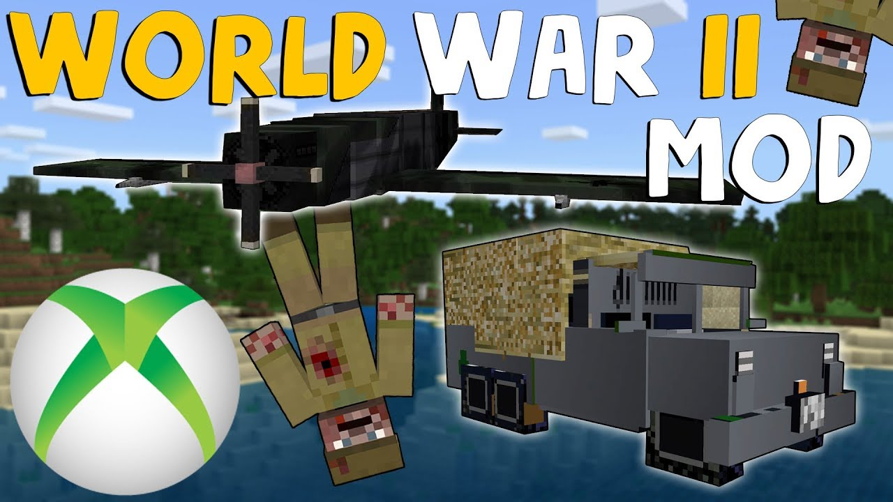 How to download the World War II Mod on Minecraft Xbox One & Mod Showcase  (Bedrock Edition)