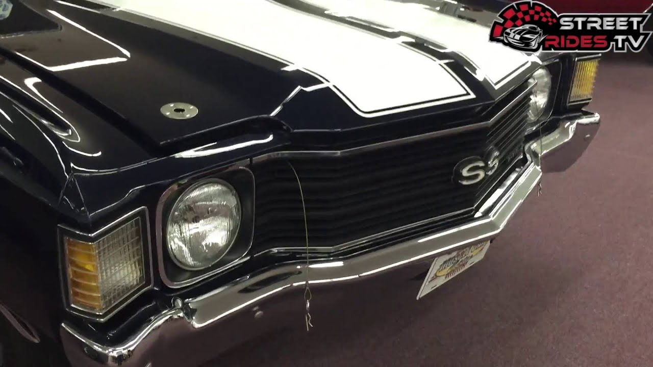 1972 Chevelle Ss Black White Stripes Classic Car Collection Youtube